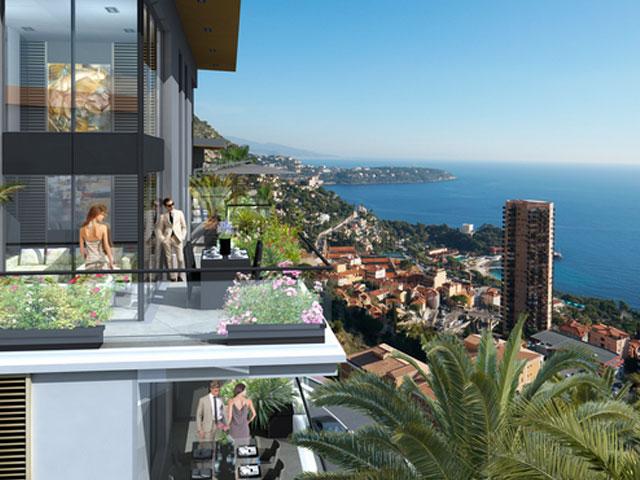 Deze nieuwbouw appartementen in Beausoleil bieden u een geweldig uitzicht op de zee en Monaco. Een prestigieus project met prachtige appartementen
