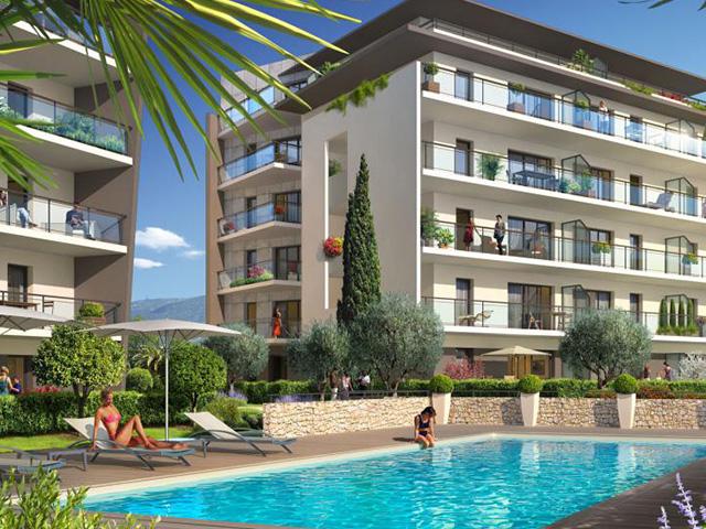 Nieuwbouw appartement Antibes Juan les Pins, met zwembad en zeezicht