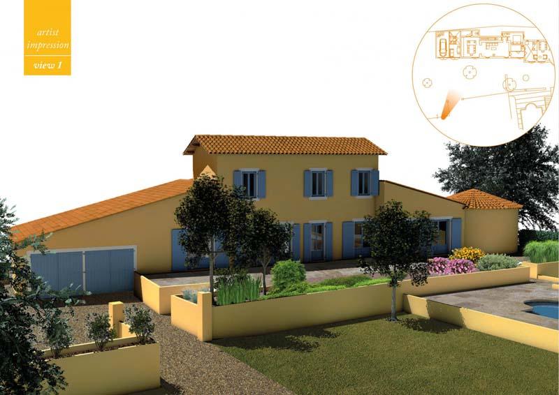 Cannes la Bocca afbouw Bastide in mooi domein