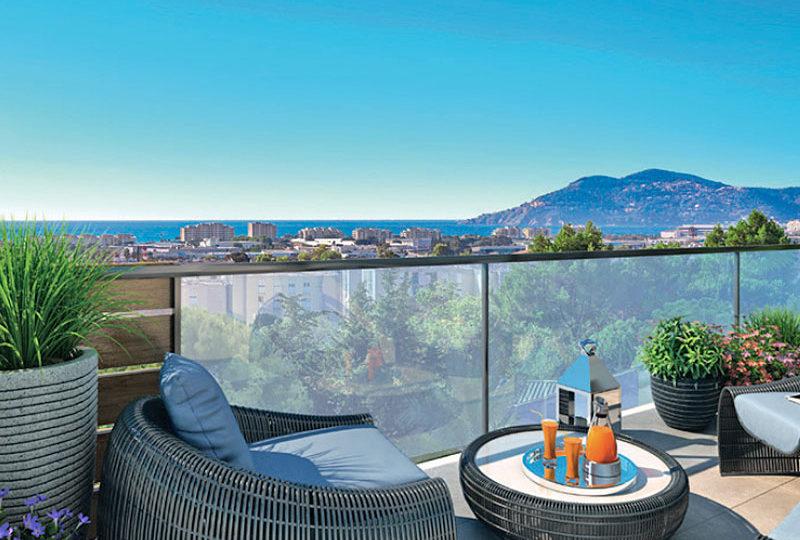 Nieuwbouw appartement in Cannes la Bocca met zeezicht