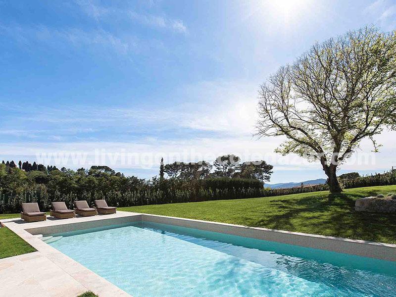 Luxe Provençaalse villa Mougins in gesloten domein