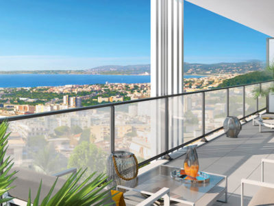 Nieuw appartement met zeezicht en zwembad te koop Nice Fabron