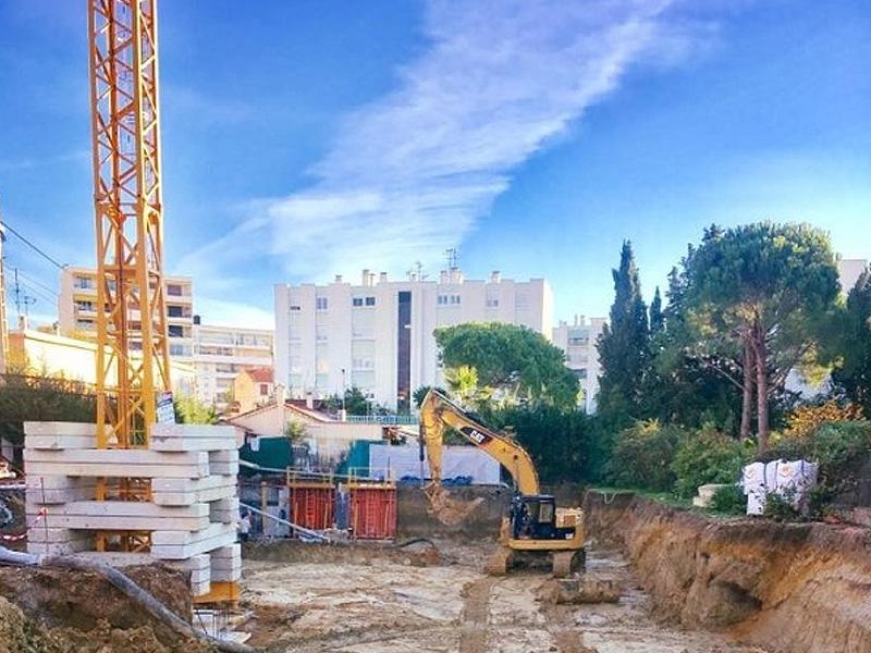 Nieuwbouw appartement in kleine villa, op 100 meter van strand Juan les Pins