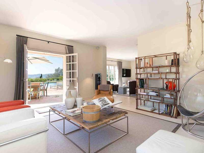 Mouans Sartoux, ruime villa met exceptioneel uitzicht