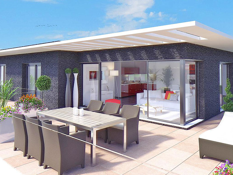 Nieuw 3 slaapkamer penthouse Saint Laurent du Var. Strand 2 min.