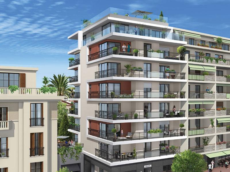 Nieuw appartement Antibes centrum met zeezicht