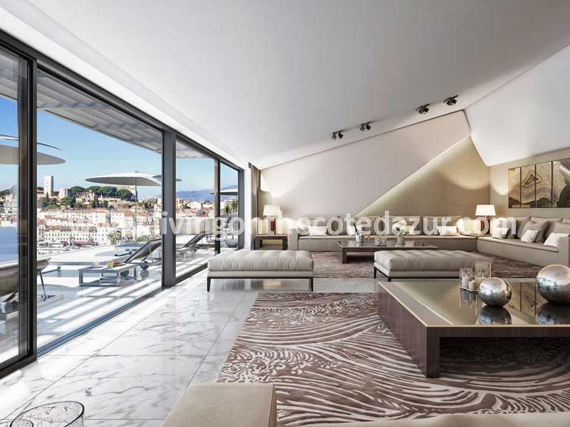 Zeer luxe nieuwbouw appartement in Cannes, aan de Croisette