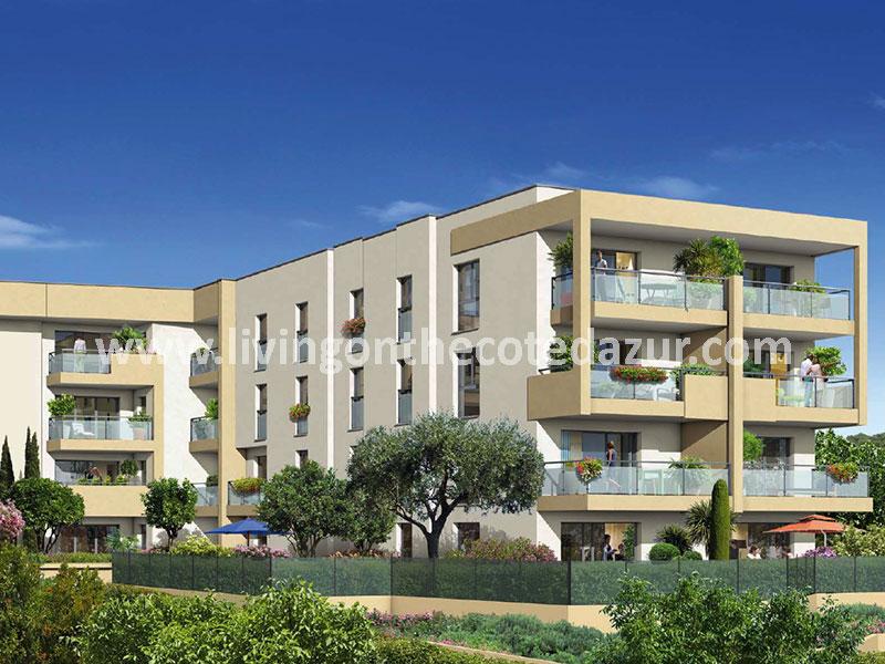 Antibes nieuw appartement kopen met zeezicht in rustige wijk