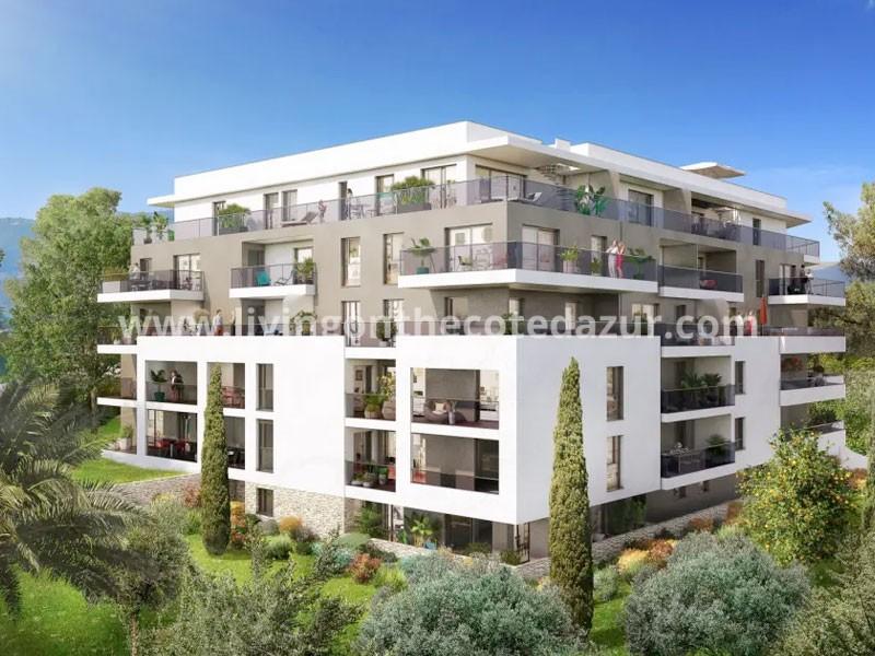 Nieuw appartement met zeezicht op centraal punt in Antibes