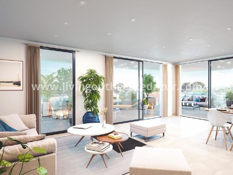 Villeneuve Loubet, 3 slaapkamers bovenste etage met zeezicht