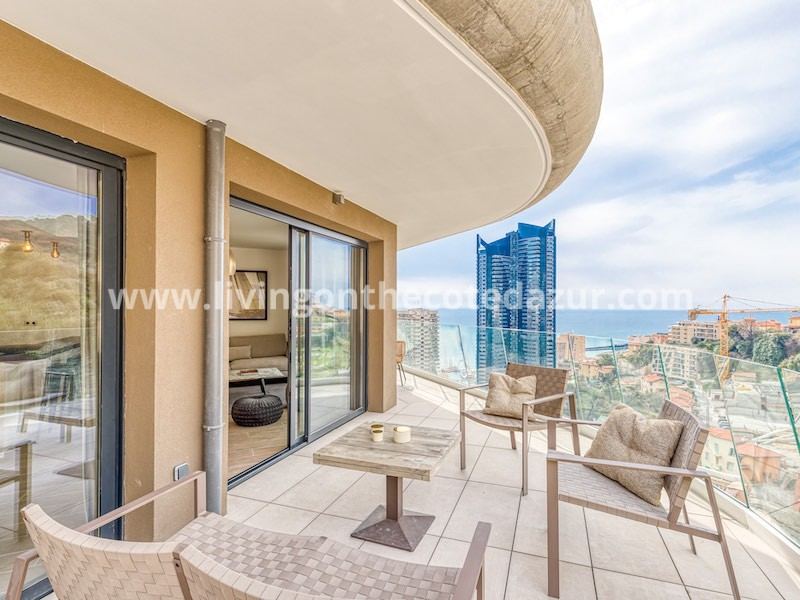 Exclusief: modern penthouse boven Monaco in Beausoleil