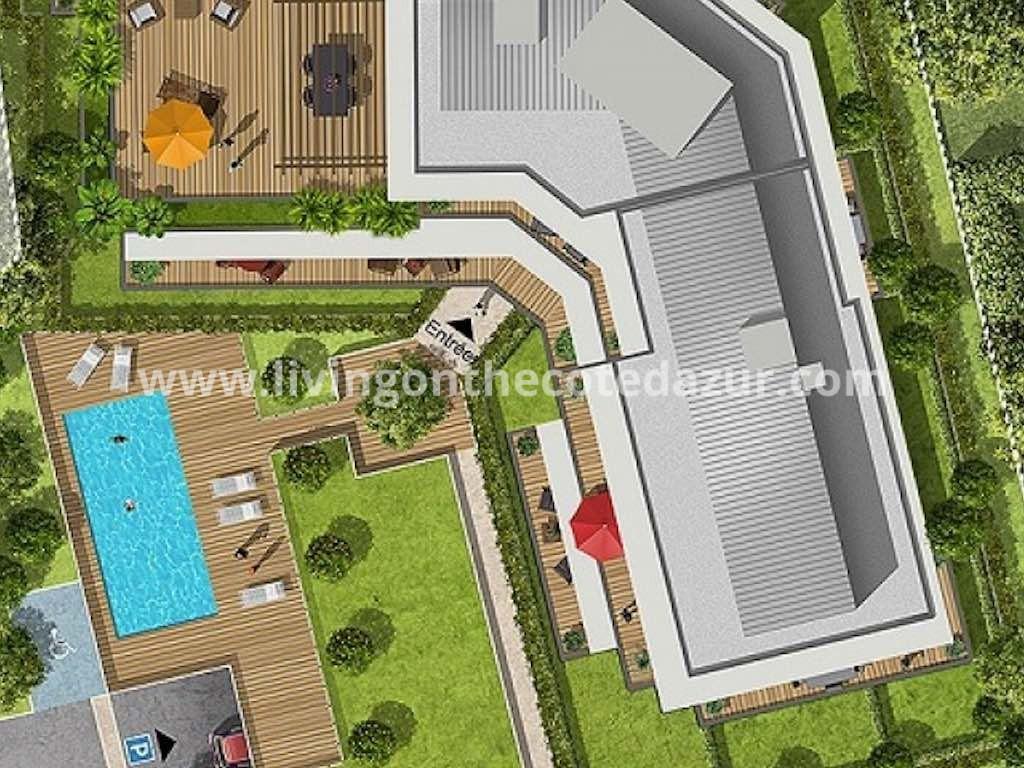 Nice Fabron nieuwbouw appartement met zwembad