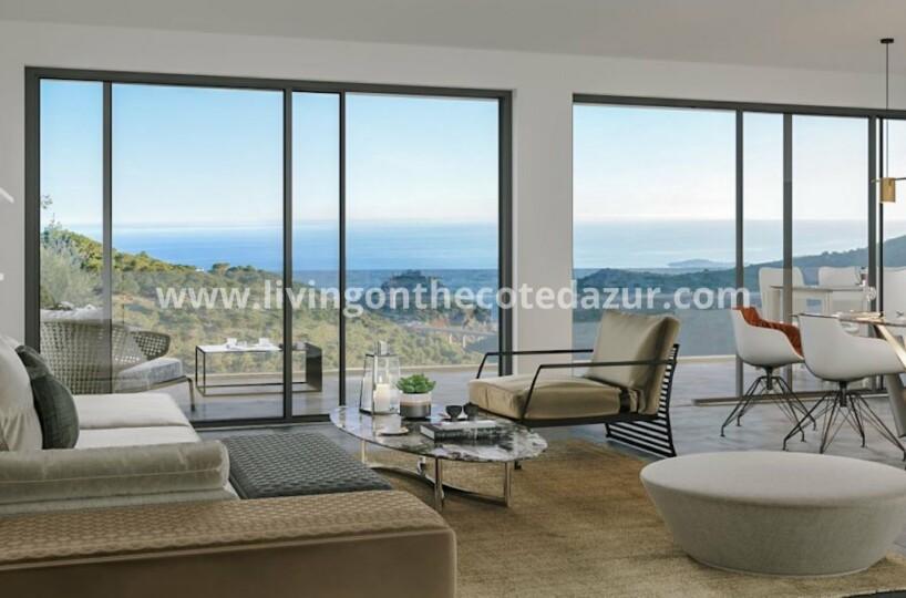 Avant-premiere: nieuwe appartementen met prachtig uitzicht op de zee en oud Eze. Reserveer NU uw woning in Eze voor 2023.
